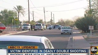 Victim identified in deadly double shooting