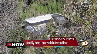 Deadly head-on crash in Escondido - Video