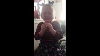 Girl bursts into tears as she learns she is going to be a big sister - Video