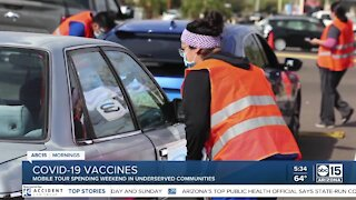 C19 vaccine mobile tour serving the Latino community