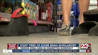Thieves break in to convenience store and steal only cigarettes - Video