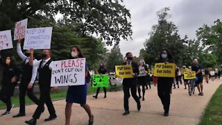 Airline workers march on Washington D.C.