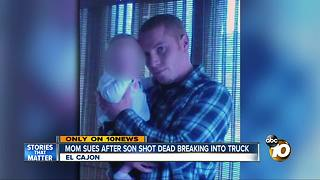 Mom sues after son shot dead breaking into truck - Video