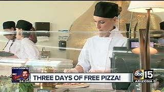 FREE PIZZA: Grand opening of Valley restaurant celebration - Video