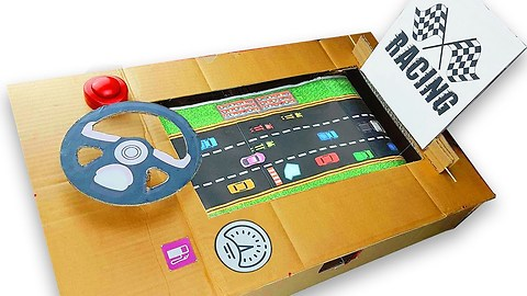 How to make racing arcade game out of cardboard
