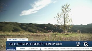 95K customers at risk of losing power
