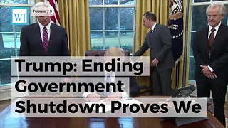Trump: Ending Government Shutdown Proves We Need More Republicans Elected - Video