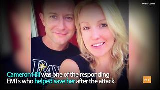Woman savagely attacked by ex-boyfriend marries EMT who responded to 911 call | Hot Topics - Video