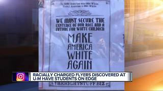 Racist flyers found on University of Michigan campus in Ann Arbor - Video
