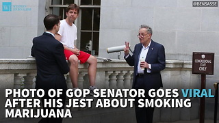 Photo of GOP Senator Goes Viral After His Jest About Smoking Marijuana - Video