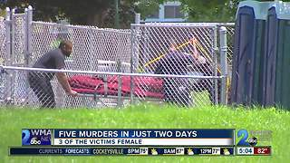 5 murders in just two days - Video