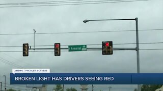 Broken light at busy Tulsa intersection frustrates drivers