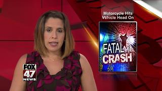 Motorcylist killed in head on collision in Jackson County - Video