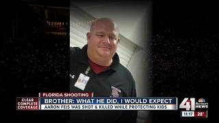 Brother of coach who died in FL shooting speaks - Video