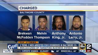 Suspects charged in string of Baltimore County robberies - Video