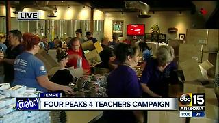 Four Peaks Brewery chipping in with supplies for classroom campaign - Video
