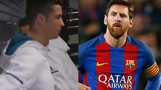 Cristiano Ronaldo Caught DISSING Lionel Messi on Camera in Real Madrid Tunnel - Video