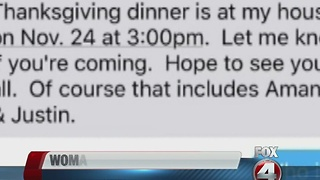 Wrong number text leads to accidental Thanksgiving invite - Video
