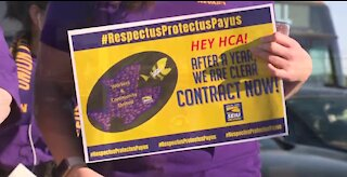 Protest at Las Vegas hospital over contract