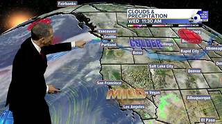 Colder Temperatures Ahead of a Weekend Storm - Video