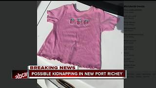Pasco County detectives investigating possible child kidnapping - Video
