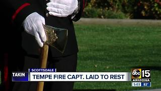 Funeral services held for Tempe Fire Captain shot in Scottsdale - Video