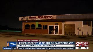 Tulsa Police search for three suspects from restaurant robbery - Video