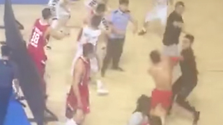Chinese Basketball Game ERUPTS into Massive Brawl - Video