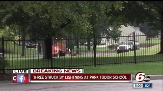 Three people struck by lightning on Indy's north side - Video