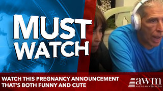 Watch This Pregnancy Announcement That's Both Funny And Cute - Video