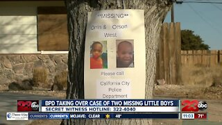 BPD taking over case of two missing boys out of Cal City
