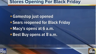 Black Friday store hours - Video