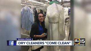Owners of San Tan Dry Cleaners open their doors, apologize to customers - Video