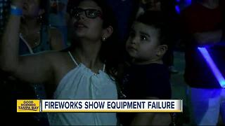 Channelside fireworks show equipment failure cuts show short - Video