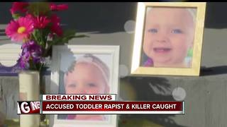 Conneaut man wanted for rape, murder of 13-month-old girl captured in Pennsylvania - Video