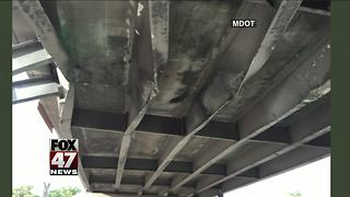 Michigan bridge to be rebuilt after damage from truck - Video