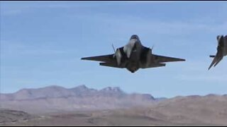 Fighter jets perform flyby in California