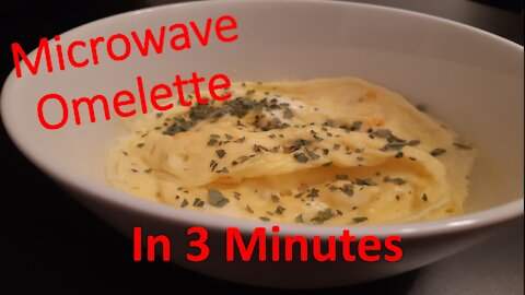 Super easy microwave omelette recipe in less than 3 minutes