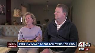 Family allowed to sue following 2012 raid