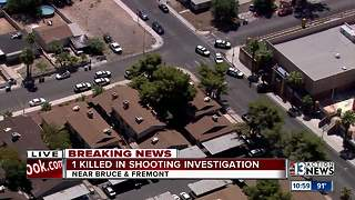 At least one dead after shot by Las Vegas police east of downtown - Video