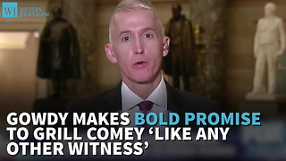 Gowdy Makes Bold Promise To Grill Comey 'Like Any Other Witness' - Video