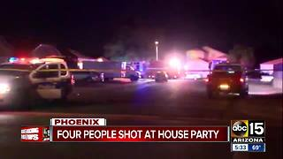 Police investigating after four shot in west Phoenix - Video