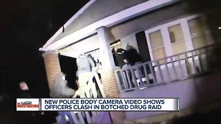 New police body camera video shows Detroit police officers clash in botched drug raid - Video