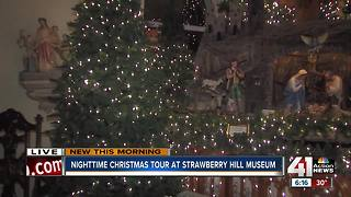 Nighttime Christmas tour at Strawberry Hill Museum - Video