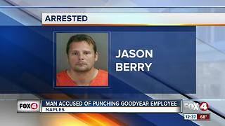 Man Accused of Punching Goodyear Employee - Video