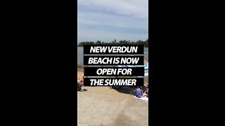 Verdun Beach is Now Open for the Summer!