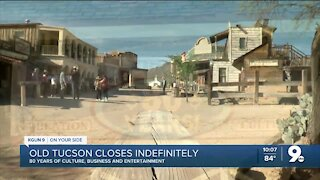 Old Tucson closed indefinitely due to effects of COVID-19