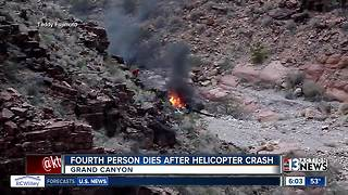 UPDATE: Fourth person dies after Grand Canyon helicopter crash - Video