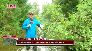 Assessing damage in Spring Hill after Hurricane Irmao - Video