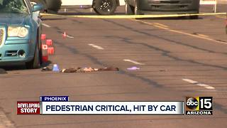 Pedestrian seriously hurt after being struck by car in Phoenix - Video